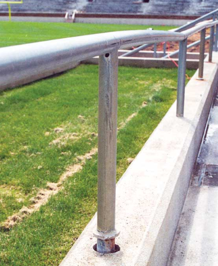 Steel Handrail Design & Embedded Post in Concrete