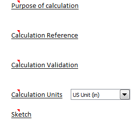 ExcelCalcs Calculation Template