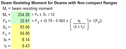 Non-compact Moment Calcs.xls