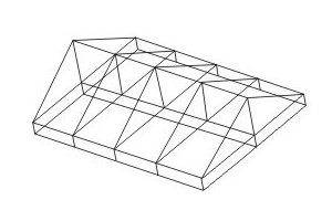 CAD: Experiments with DesignCAD: Draw 3D framing of American Barn type structure
