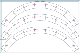 Rectangular Dimensions of Nested Ring / Flange Segments / Sectors Calculator