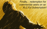 Finally... redemption for commercial users on an XLC Ed Subscription!